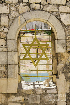Photograph - A Window With The Star Of David At King David's Tomb On Mount Zi by William Kuta
