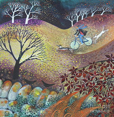 Painting - A Windy Day by Lisa Graa Jensen