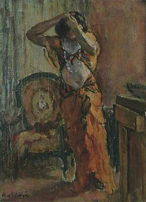 Advertising Archives - A Woman Dressing by Henri Lebasque