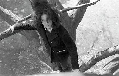 Photograph - A Woman In A Tree, 1972 by Jeremy Butler