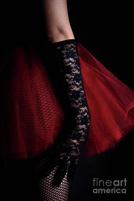 Photograph - A Woman Wearing A Black Lace Glove by Jelena Jovanovic
