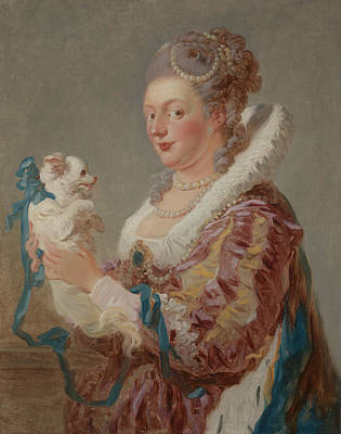 Painting - A Woman With A Dog, Circa 1769 by Jean-Honore Fragonard