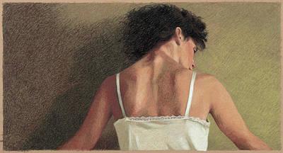 Painting - A Womans Back By Helen J. Vaughn by Helen Vaughn