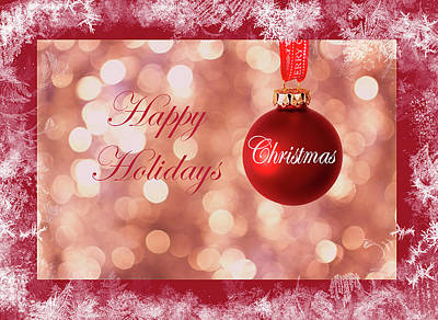 Digital Art - A Wonderful Happy Holidays Card by Johanna Hurmerinta
