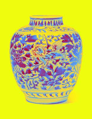 Abstract Stripe Patterns - A WUCAI BUDDHIST LION JAR MING DYNASTY, 16TH-17TH CENTURY Neon art by Ahmet Asar by Ahmet Asar