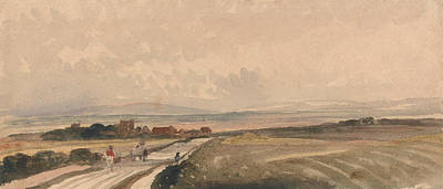 Drawing - A Yorkshire Road by Peter De Wint