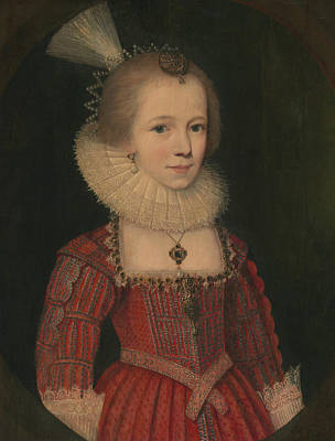 Painting - A Young Girl by Paul van Somer