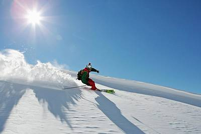 Ski Resort Photograph - A Young Skier, A Freerider Making A by Bernard Van Dierendonck / Look-foto