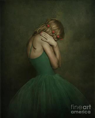 Photograph - A Young Woman Wearing A Green Tutu by Jelena Jovanovic