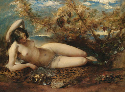 Painting - A Young Women Reclining On A Fur Rug by William Etty