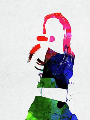Rock Band Wall Art - Mixed Media - Aaliyah Watercolor by Naxart Studio