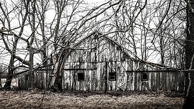 Photograph - Abandoned Barn Highway 6 V2 by Michael Arend