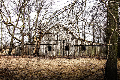 Photograph - Abandoned Barn Highway 6 V3 by Michael Arend