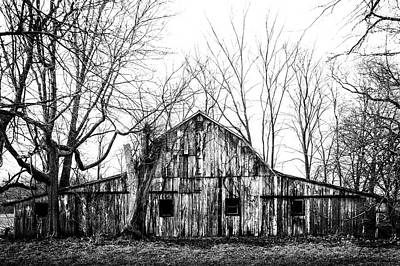 Photograph - Abandoned Barn Highway 6 V4 by Michael Arend