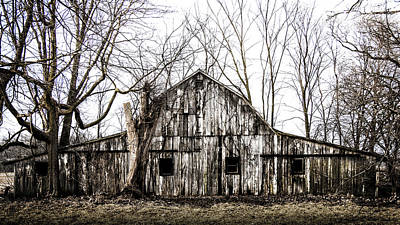 Photograph - Abandoned Barn Highway 6 V5 by Michael Arend
