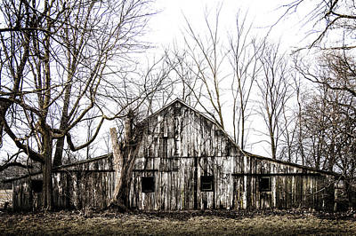 Photograph - Abandoned Barn Highway 6 V7 by Michael Arend