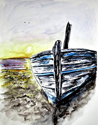 Painting - abandoned Fishing Boat No.2 by Clyde J Kell
