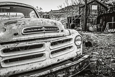 Photograph - Abandoned Ghost Town Studebaker Truck by Edward Fielding