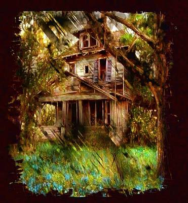 Digital Art - Abandoned Home With Black Border by Mario Carini