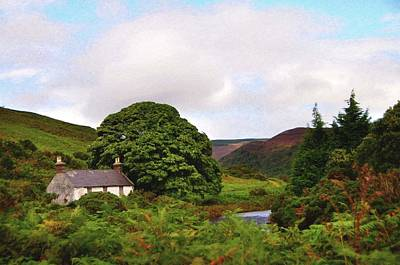 Photograph - Abandoned House. Wicklow Hills by Jenny Rainbow