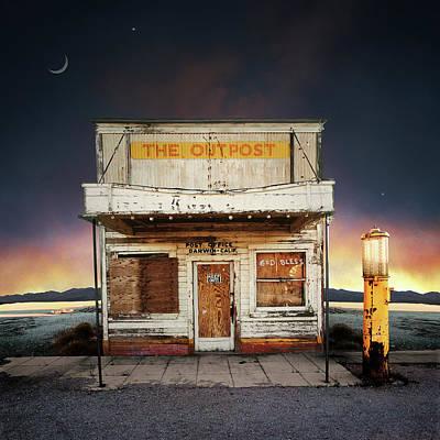 Photograph - Abandoned Post Office, Dusk Digital by Ed Freeman