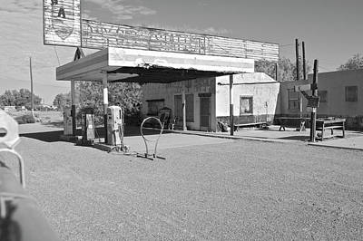 Photograph - Abandoned Service Station, Route 66 by Larry Dale Gordon