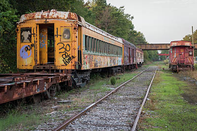 Photograph - Abandoned Trains by Terry DeLuco
