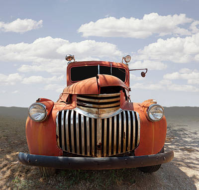 Photograph - Abandoned Vintage Truck In Field by Ed Freeman
