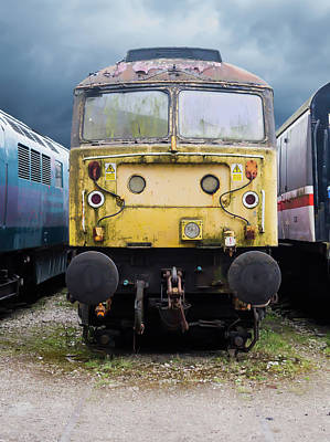 Photograph - Abandoned Yellow Train by Scott Lyons