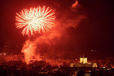 Photograph - Abbey Fireworks by David Taylor