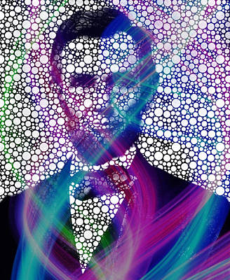 Painting - Abe Lincoln Bubble Modern Art by Robert R Splashy Art Abstract Paintings