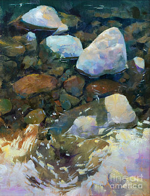 Wall Art - Painting - Above And Below The Sol Duc by Patrick Saunders