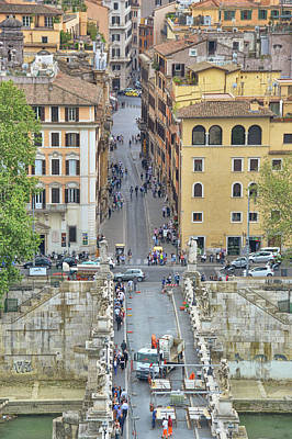 Photograph - Above Ponte Sant'angelo by JAMART Photography