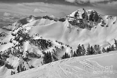 Photograph - Above Rendezvous Bowl Black And White by Adam Jewell