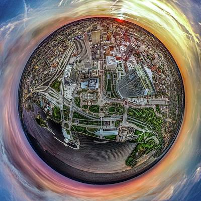 Photograph - Above The Calling Little Planet by Randy Scherkenbach