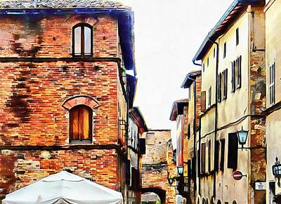 Photograph - Above The Crowds Pienza by Dorothy Berry-Lound