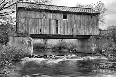 Photograph - Above The Gihon River Black And White by Adam Jewell