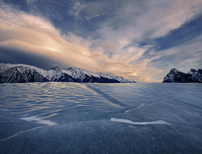 Photograph - Abraham Lake Ice Wall by Dan Jurak