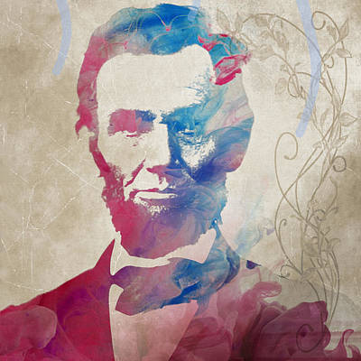 Painting - Abraham Lincoln For President Watercolor by Robert R Splashy Art Abstract Paintings