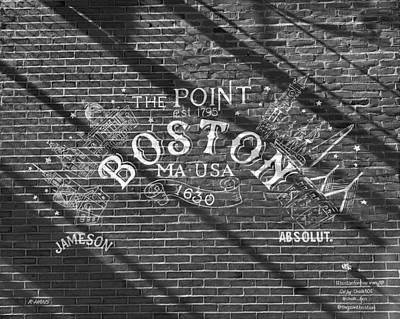 Photograph - Absolut Boston In Black And White by Rob Hans