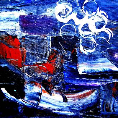 Painting - Abstract 1 - Tricolore by VIVA Anderson