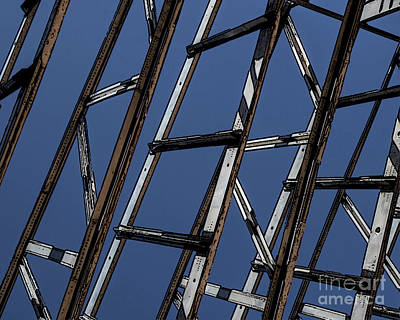 Photograph - Abstract Airplane Bones by Edward Fielding