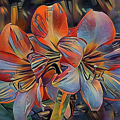 Photograph - Abstract Amaryllis by HH Photography of Florida