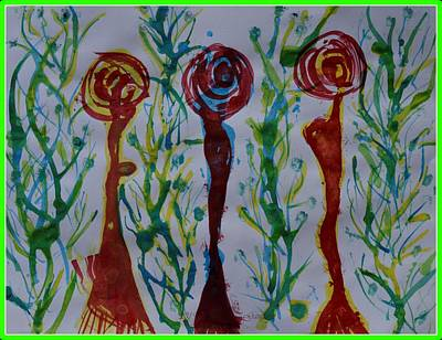 Sultry Plants - Abstract art 5-2019 by Sonali Gangane