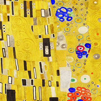 Photograph - Abstract Art Gustav Klimt 20190215 Plate1 Square by Wingsdomain Art and Photography