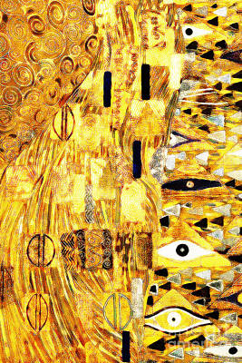 Photograph - Abstract Art Gustav Klimt 20190215 Plate3 Vertical by Wingsdomain Art and Photography