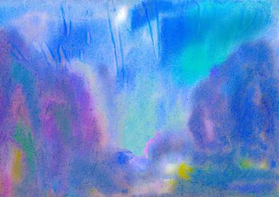 Painting - Abstract Azure Landscape by Irina Dobrotsvet