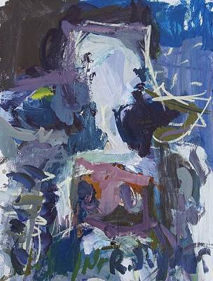 Painting - Abstract Blue Cow by Robert Joyner