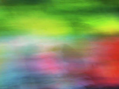 Photograph - Abstract Blurred Rainbow Lines Background Of Fractal Artwork by Teri Virbickis