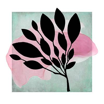 Mixed Media - Abstract Botanical Pink Splash by Patricia Strand